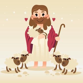 Jesus liebt alle verlorenen schafe