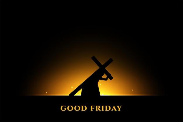 Jesus trägt ein kreuz für seine kreuzigung