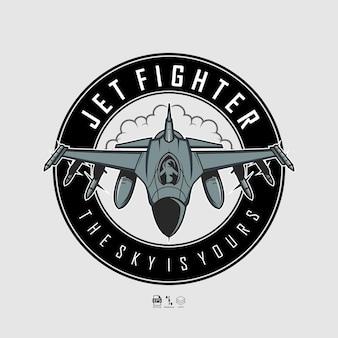 Jet fighter illustration