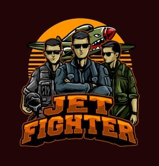 Jet fighter piloten