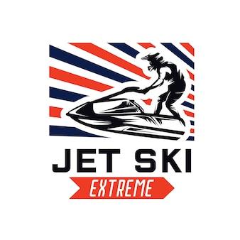 Jet ski vermietung logo designs vorlage