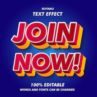 Jetzt beitreten! textwirkungen
