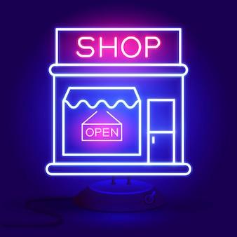 Jetzt kaufen leuchtreklame. bereit für ihr design, grußkarte, banner. vektor-illustration.