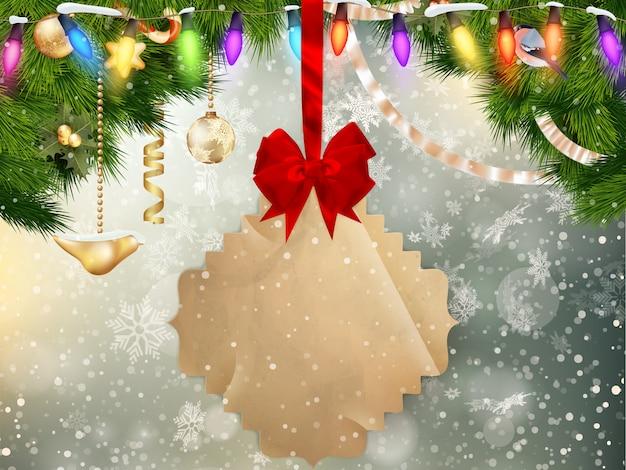 Jingle glocken hintergrund.