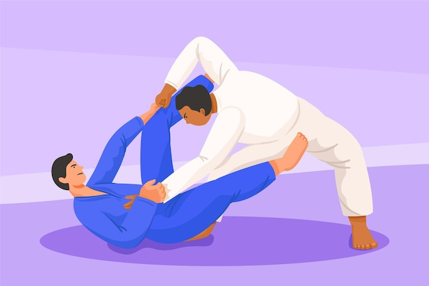 Jiu jitsu in kampfposition