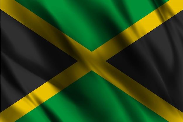 Jjamaica flagge, die abstrakten hintergrund winkt