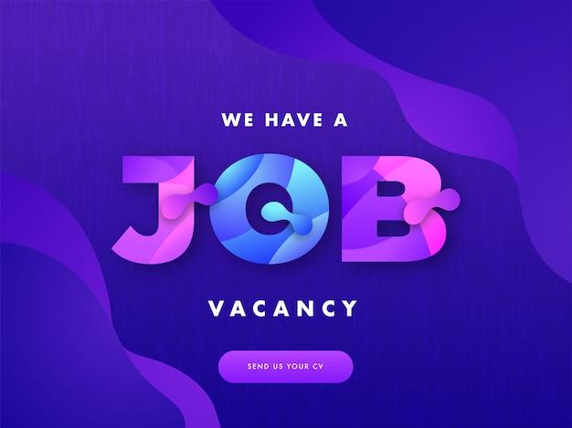 Job-rekrutierungskonzept.