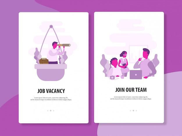 Job suchen und rekrutierungsvektorschablone