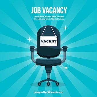 Job-vakanz-hintergrund mit stuhl