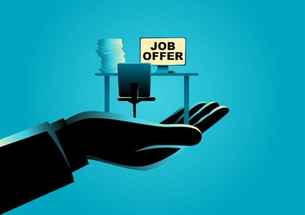 Jobangebot-konzept