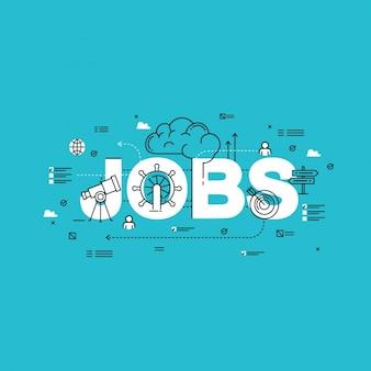Jobs hintergrund-design