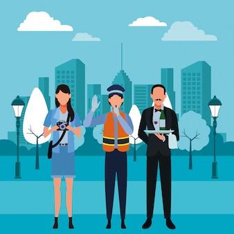Jobs und berufe avatare