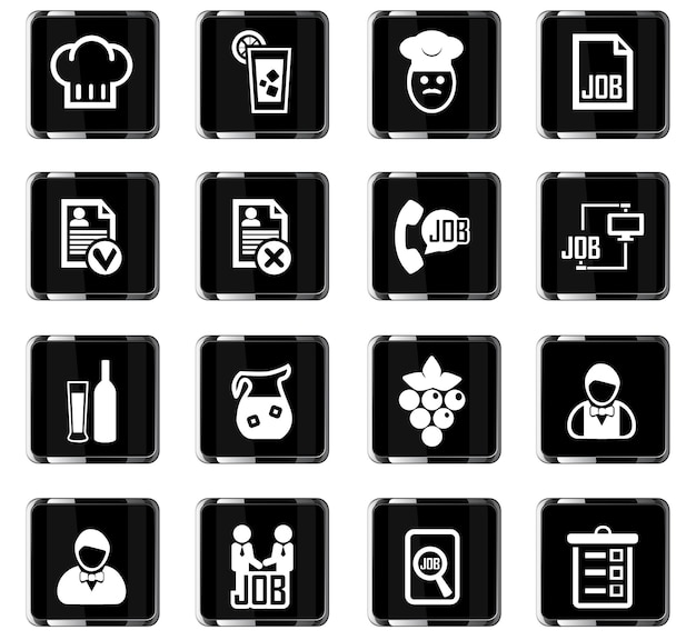 Jobsuche-vektorsymbole für das design der benutzeroberfläche