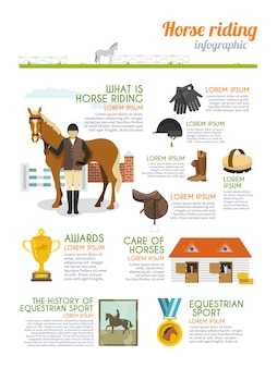 Jockey-infografik-set