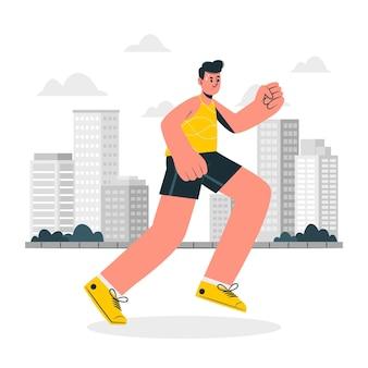 Jogging-konzeptillustration