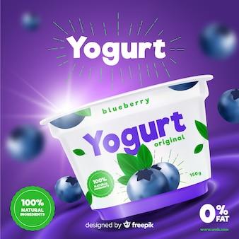 Joghurt-anzeige