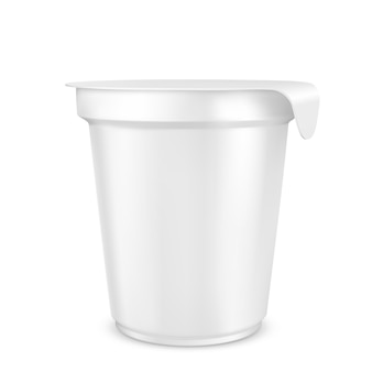 Joghurtverpackung. isoliert.