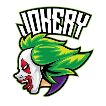 Joker clown esport logo