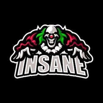 Joker esport maskottchen cartoon logo vektor vorlage