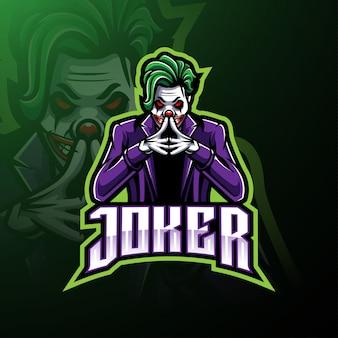 Joker esport maskottchen-logo