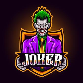 Joker l-maskottchen für sport- und esport-logo-vektorillustration