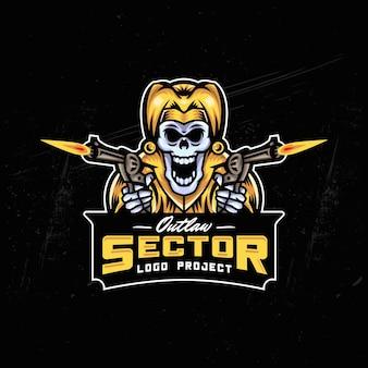 Joker schädel esport logo design