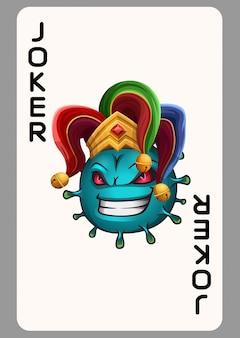 Joker-virus-spielkarte