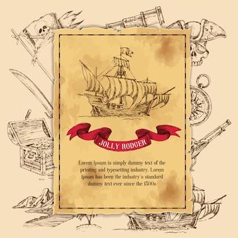 Jolly rodger pirate vorlage