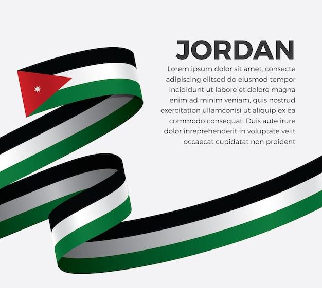 Jordan band flagge, vektor-illustration auf weißem hintergrund