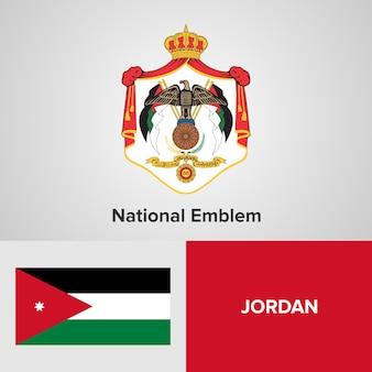 Jordanien national emblem und flagge