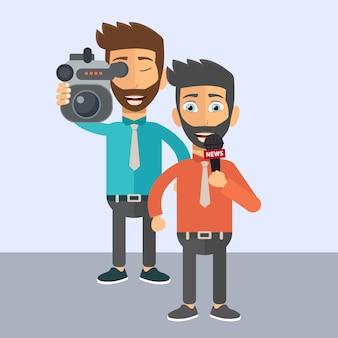 Journalist und nachrichtenreporter