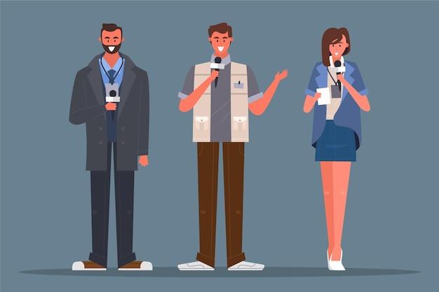 Journalisten, die bereit sind, ein interview zu führen