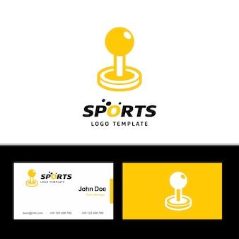 Joystick-logo und visitenkarte