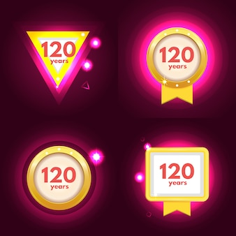 Jubiläum 120 icons set