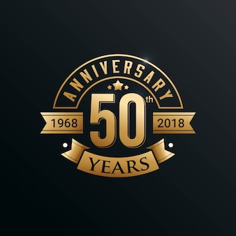 Jubiläum embleme template-design