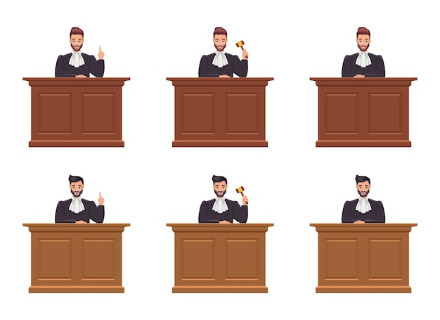Judge mann design illustration isoliert auf weißem hintergrund