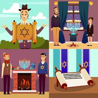 Jüdische nation-design-konzept