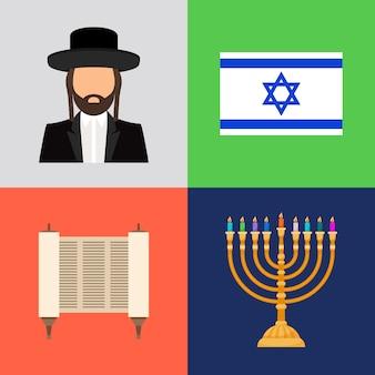 Jüdische und judentum symbole