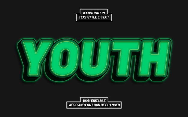 Jugend 3d bold text style effekt