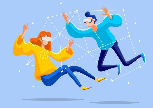 Jugend spielt virtuelle spiele.