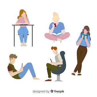 Jugendliche lesen