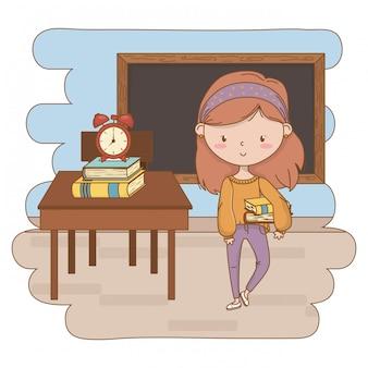 Jugendlichmädchen-karikaturclipartillustration
