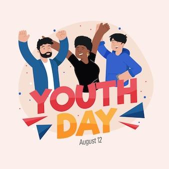 Jugendtag mit jungen leuten