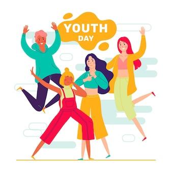 Jugendtag mit menschen