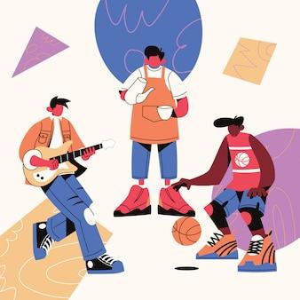 Jugendtag teenager gruppenaktivität