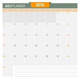 Juli kalender 2016