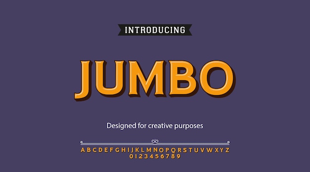 Jumbo-schrift. schriftgestaltung