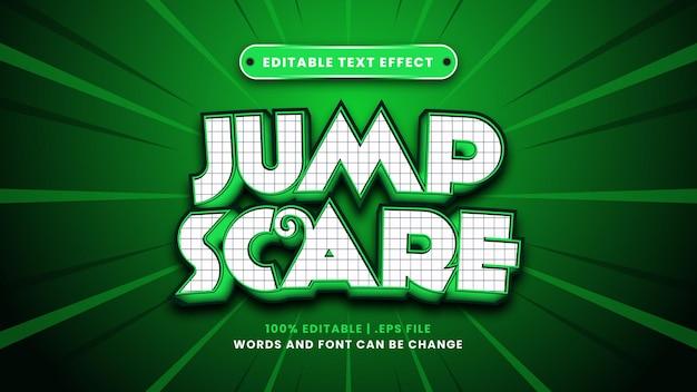 Jump scare editierbarer texteffekt im modernen 3d-stil