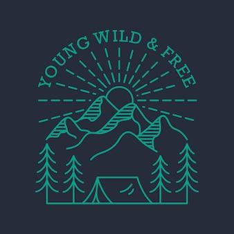 Jung, wild und frei