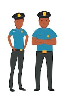 Junge afroamerikanische polizei
